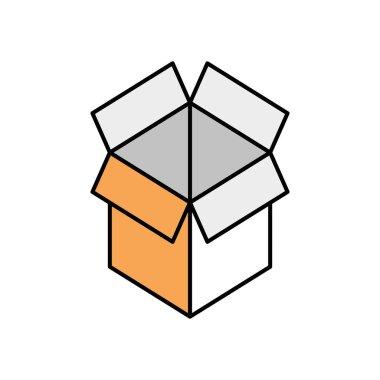 box carton open isolated icon