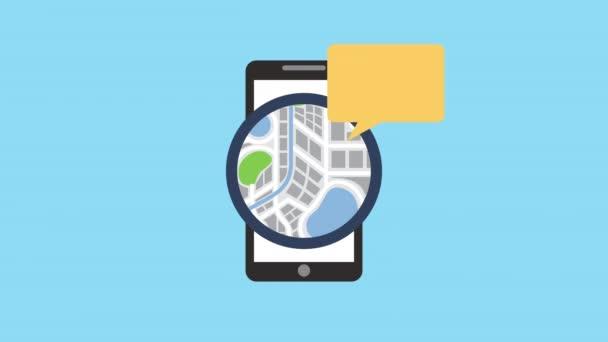 smartphone s aplikací technologie GPS
