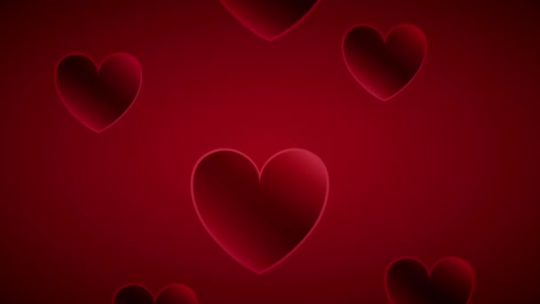 valentines day animated card with hearts pattern