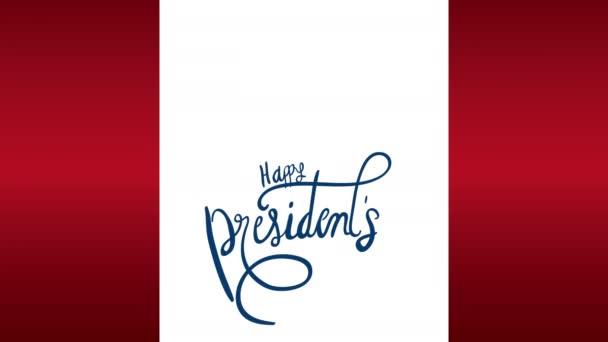 Präsidenten Tag Schriftzug mit Adler