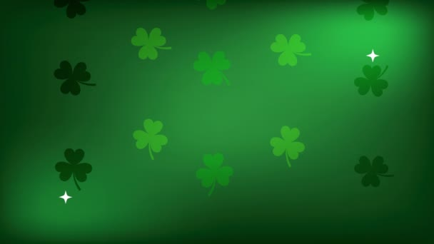 st patricks day animated card with clovers pattern