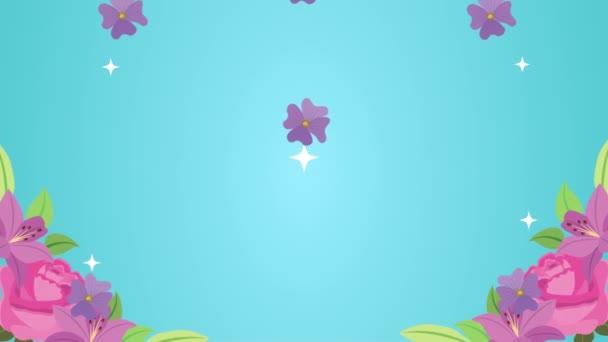 beautifull flowers garden pattern animation