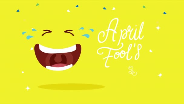 april fools day card with laugh and lettering