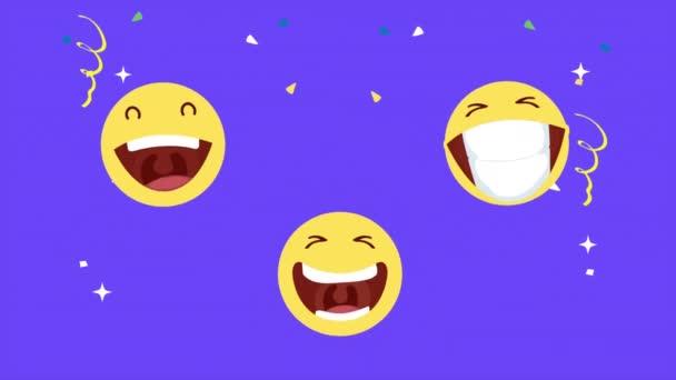 happy fools day card with crazy emojis