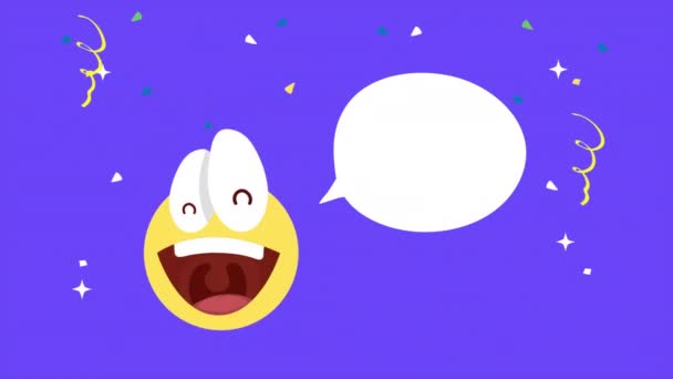april fools day card with emoji laughing and speech bubble