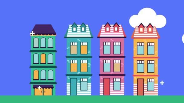 épületek homlokzatok maradnak otthon kampány