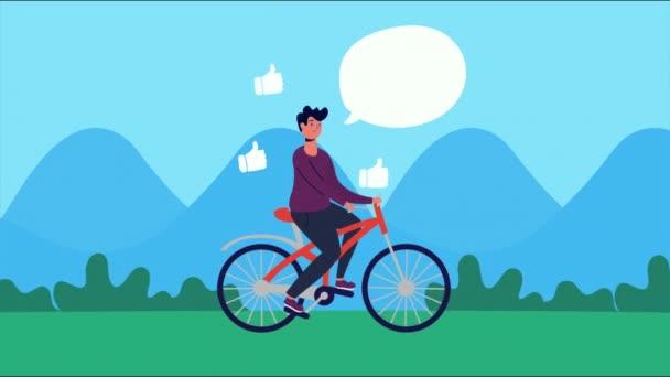 jízda na kole v parku