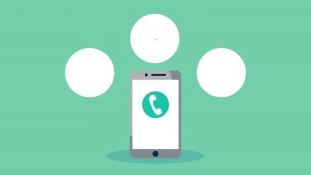 Smartphone mit Online-Gesundheitsversorgung und eingestellten Symbolen