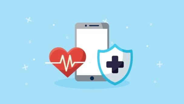 Smartphone mit Gesundheits-Online-Technologie