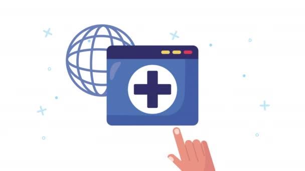 Webseite mit Gesundheits-Online-Technologie