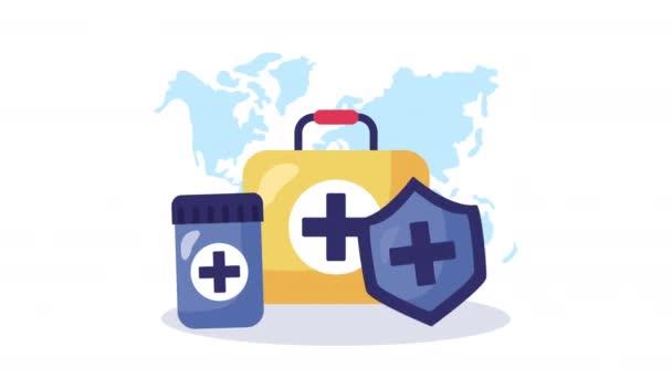 Medizinisches Set und Medizin-Animation