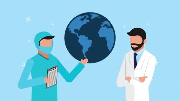 Ärzte und Erde Planet Gesundheit Online-Technologie