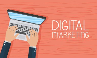 digital marketing tech with laptop