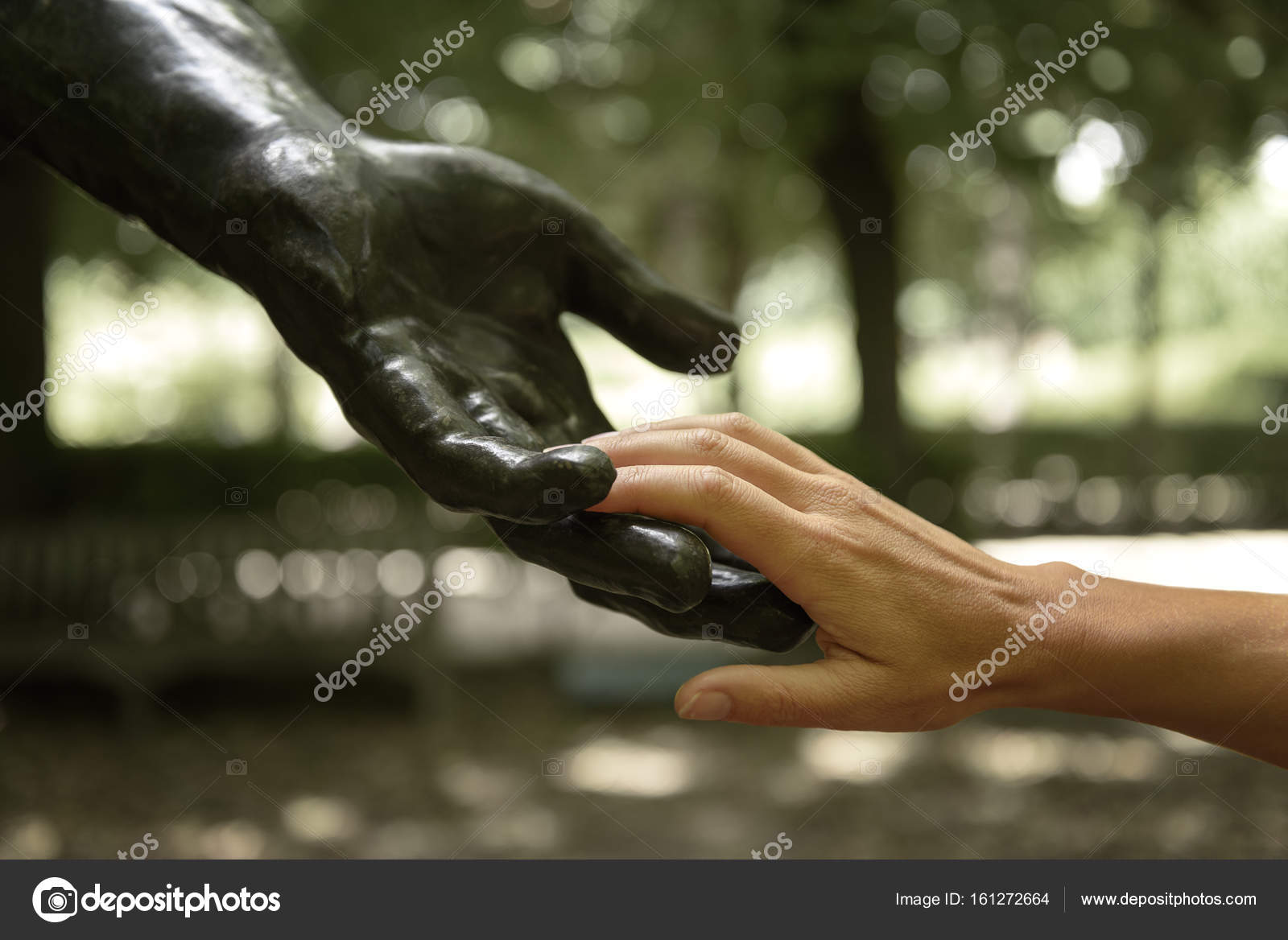 Rodin statue with human hands — Stock Photo © ventdusud #161272664