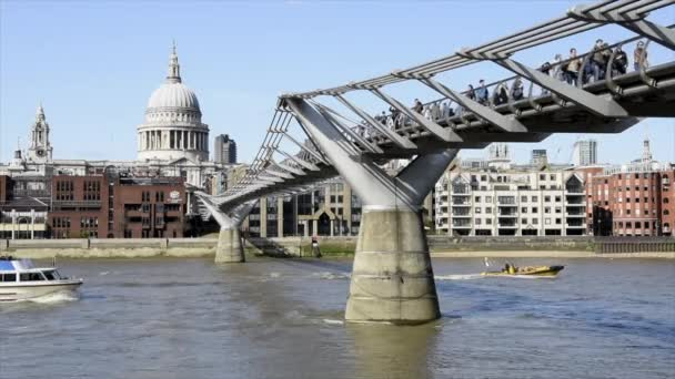 April 11,2015 : London UL, London by day, millenium bridge, on the thames and buisness district, UK
