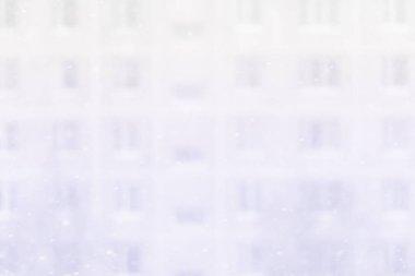 Snowfall in big city