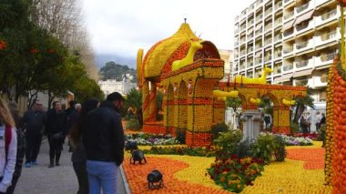 Lemon Festival in Menton, France