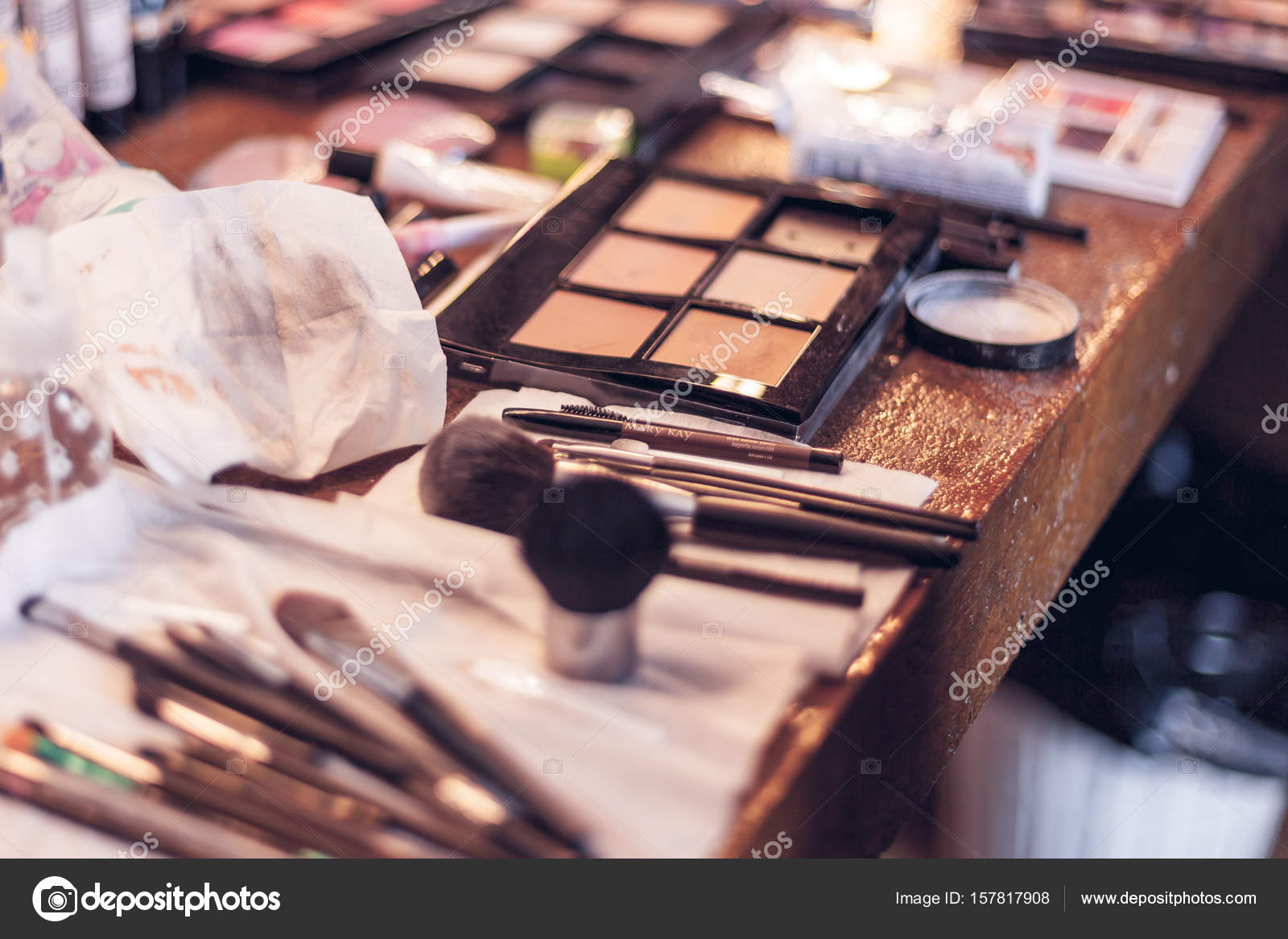 Assorted makeup products macro \u2013 Stock Editorial Photo