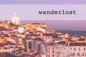 Fotografie Inspirational typographic quote wanderlust