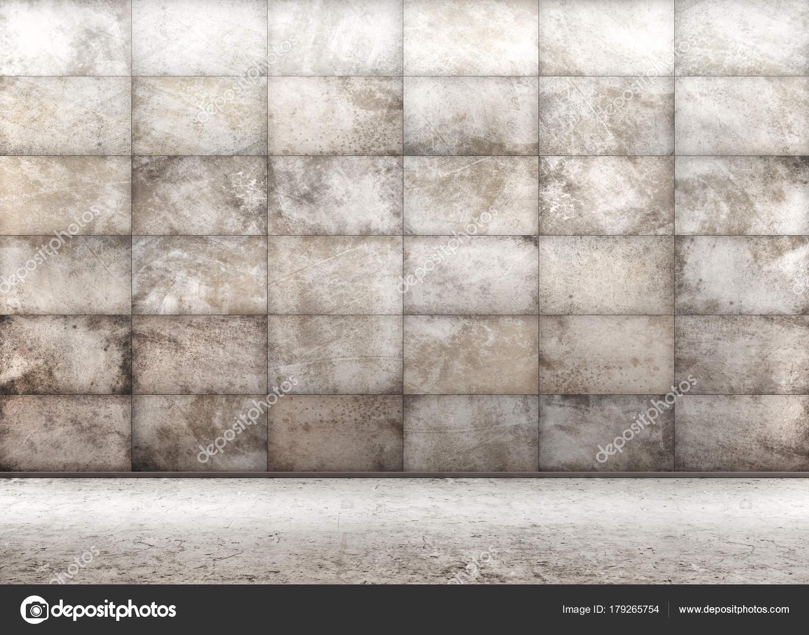 Cemento piastrelle muro interno d rendering in background u foto