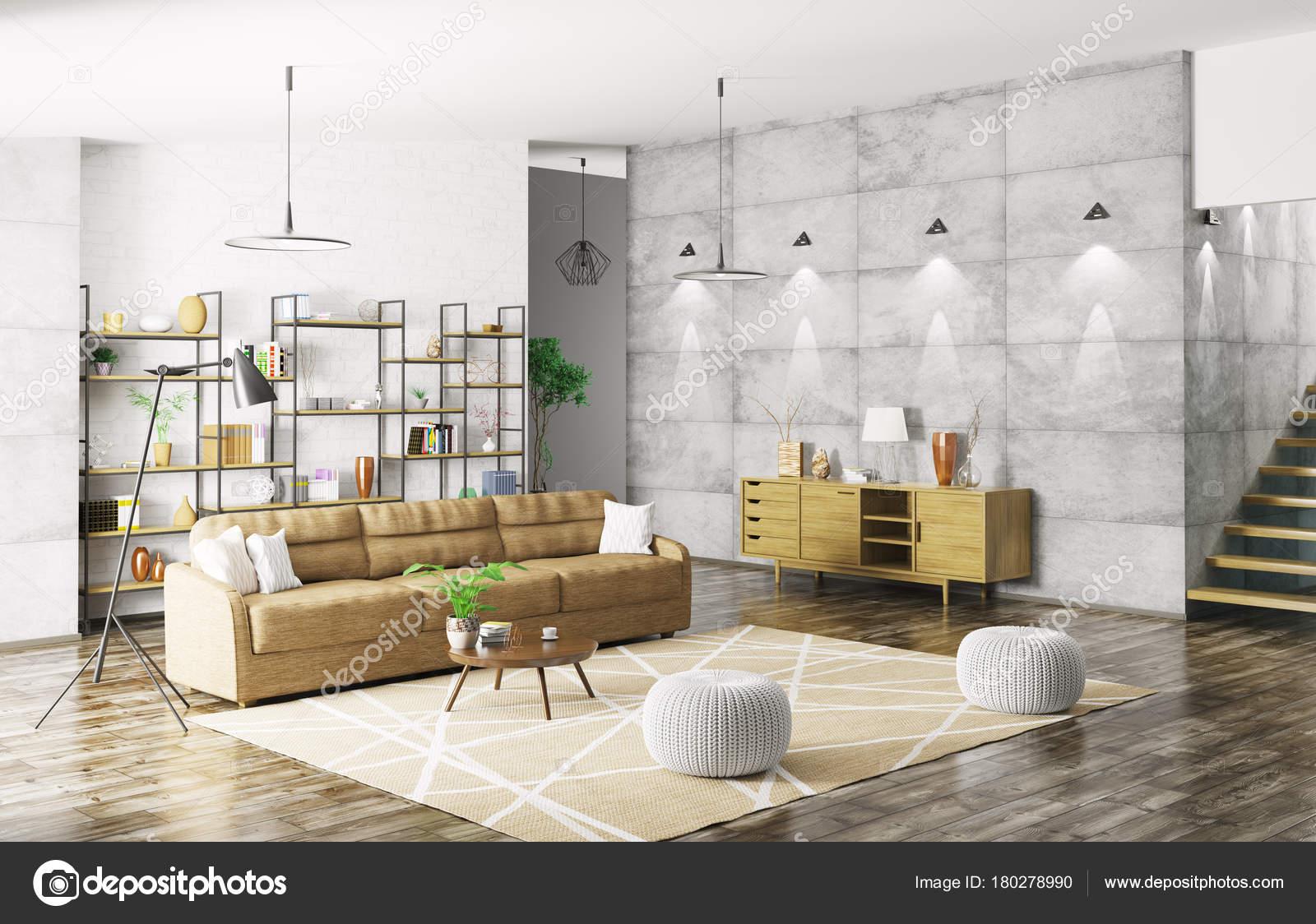 interieur des modernen appartement-3d-rendering — Stockfoto © scovad ...
