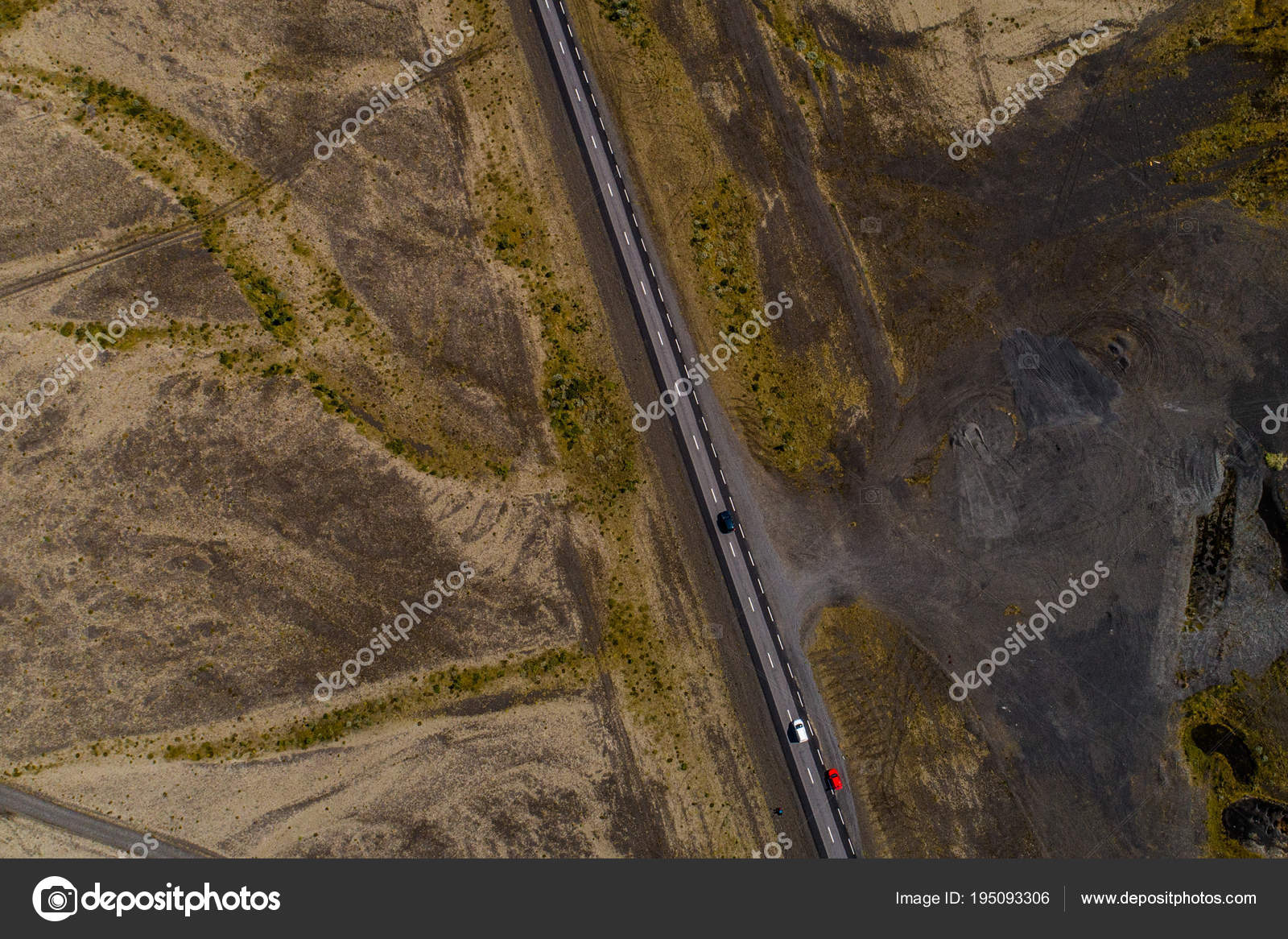 Landscapes And Motorways Of Iceland Taken With Drone Stock Photo