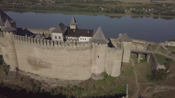 Középkori erőd Khotyn városban Nyugat-Ukrajnában. A kastély Ukrajna hetedik csodája.