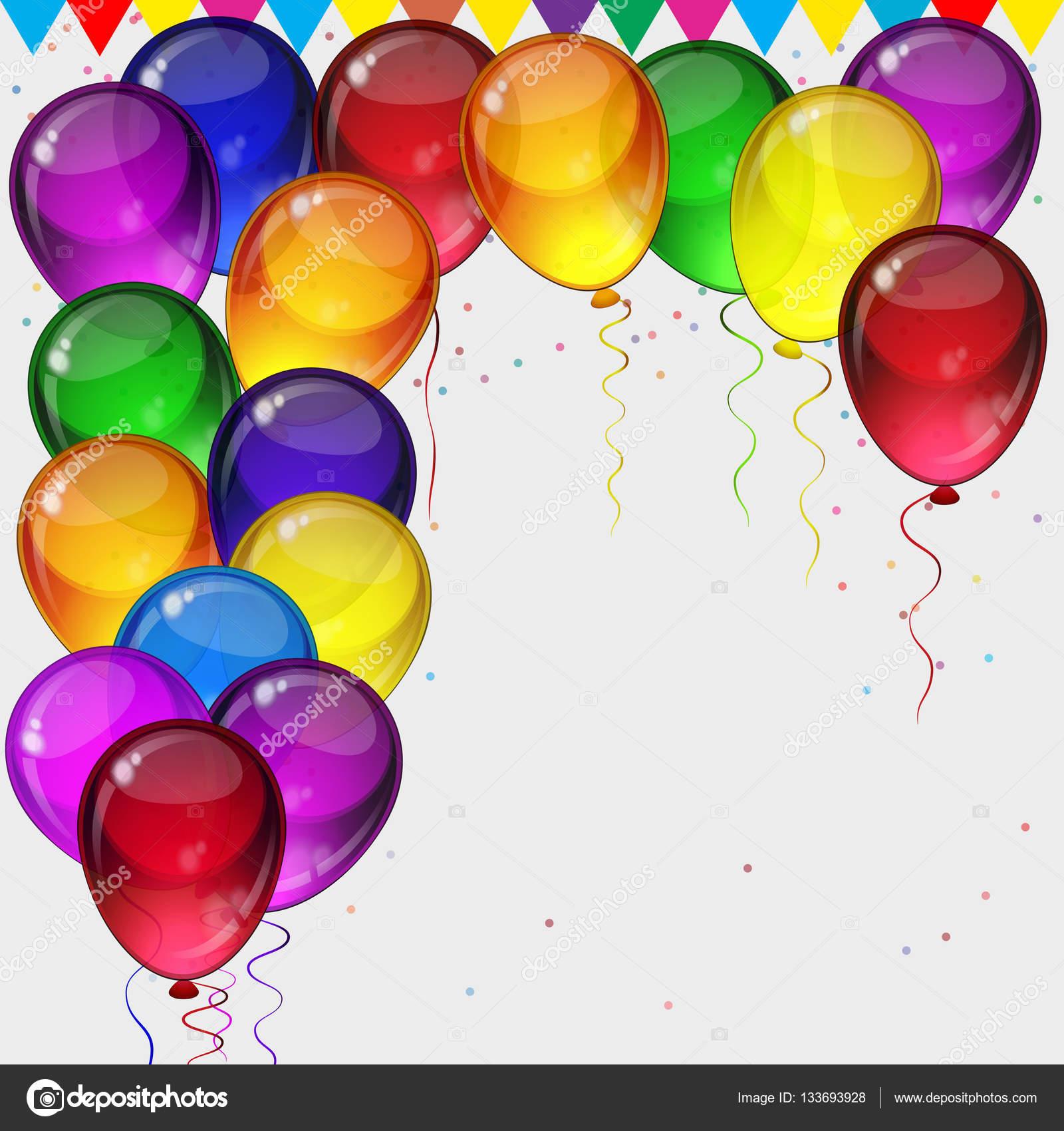 fondo de fiesta cumplea os globos fiestas coloridos