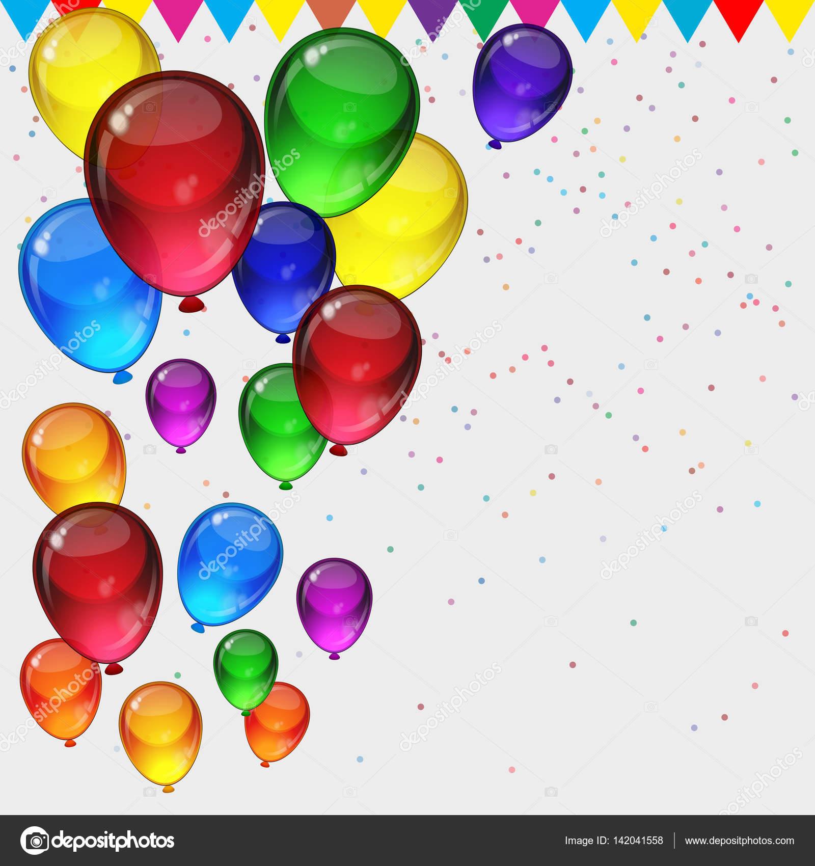Fondo de fiesta cumplea os globos fiestas coloridos - Globos fiesta cumpleanos ...