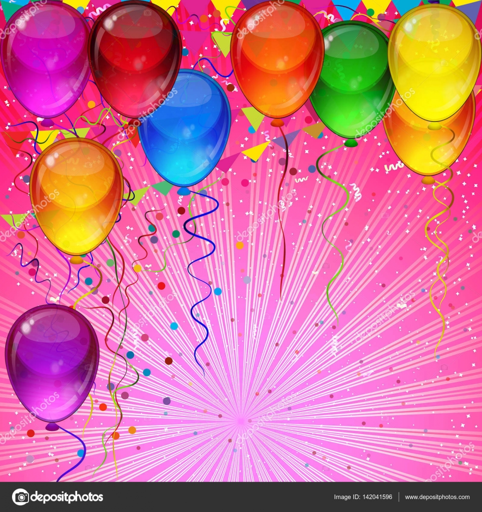 Birthday Party Hintergrund Festliche Bunte Luftballons