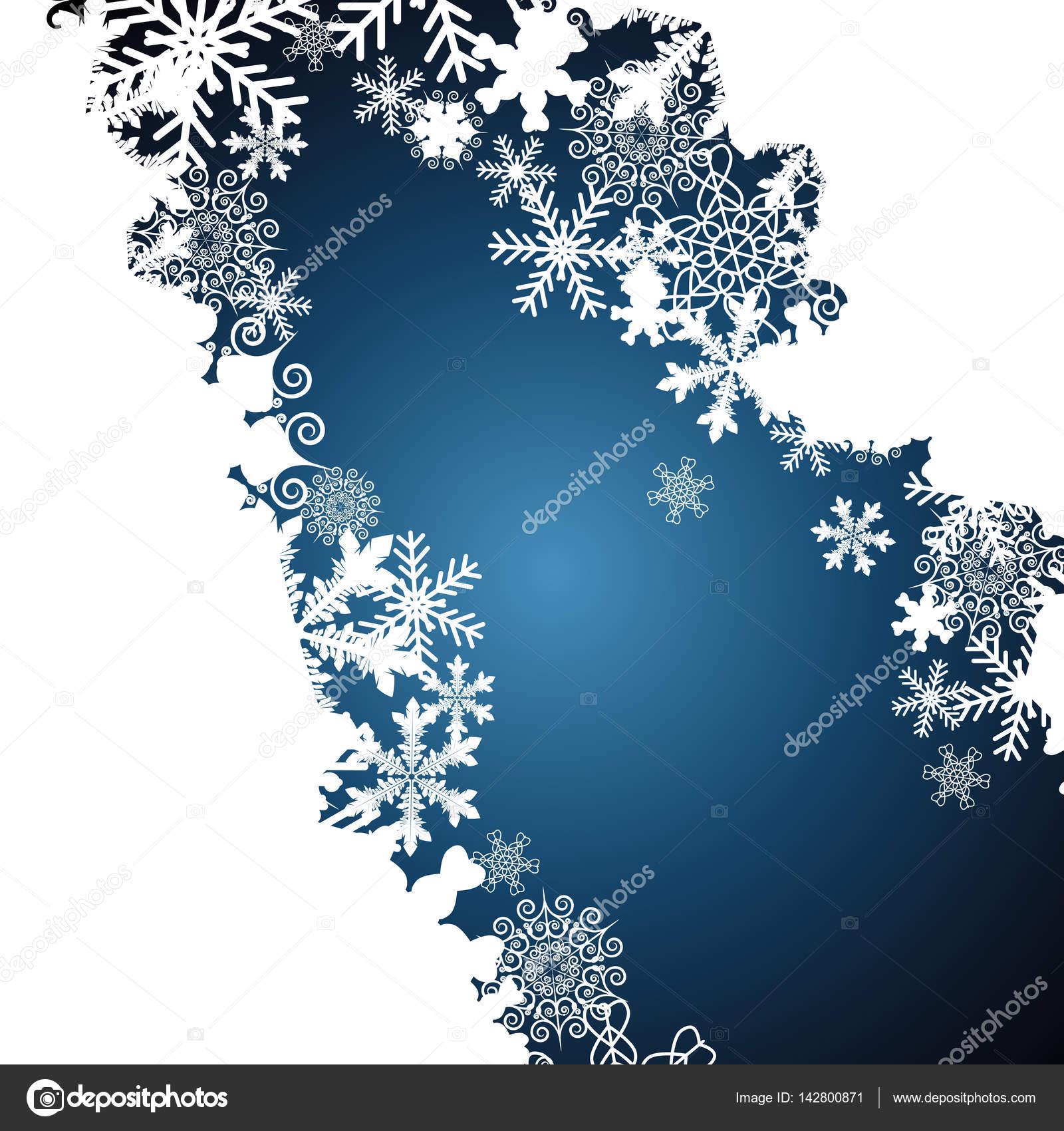 Weihnachten Grenze, Schneeflocke-Design-Hintergrund — Stockvektor ...