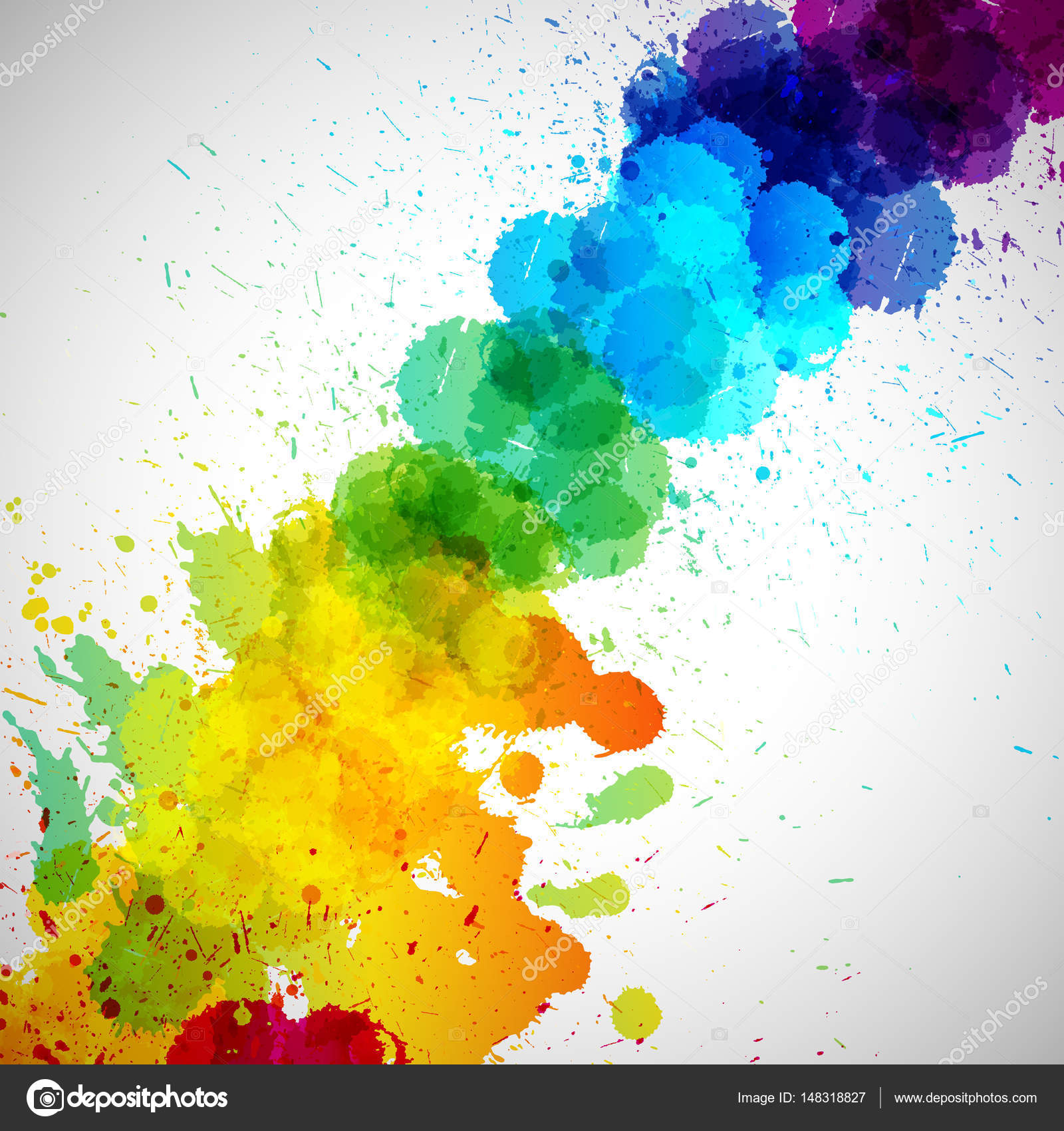 Holi Background Abstract Colorful Splash Paint Blots