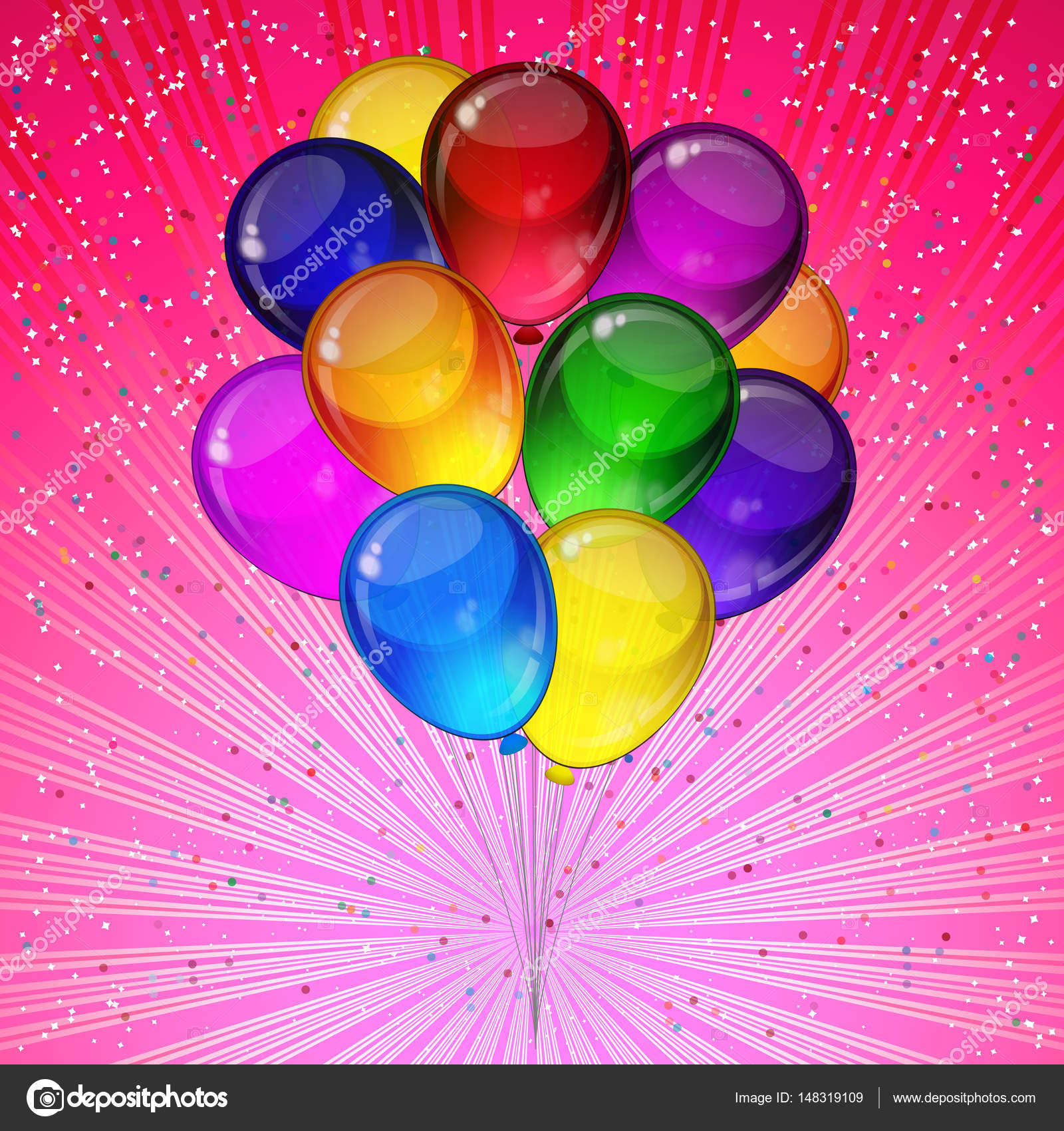 Birthday Party Vector Background