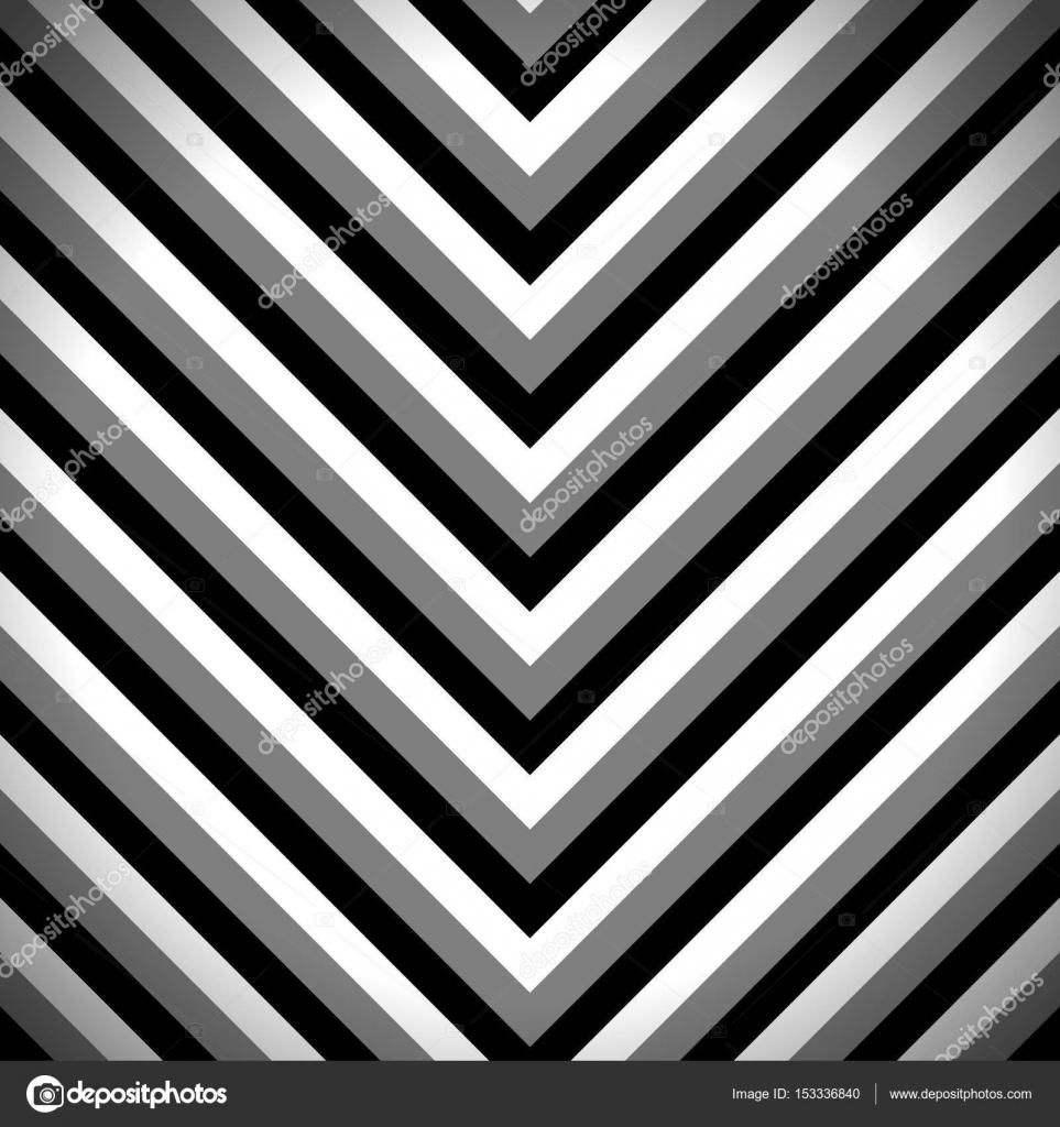 Zick-Zack-Muster mit schwarz, dunkelgrau und weiß gestreift Streifen ...