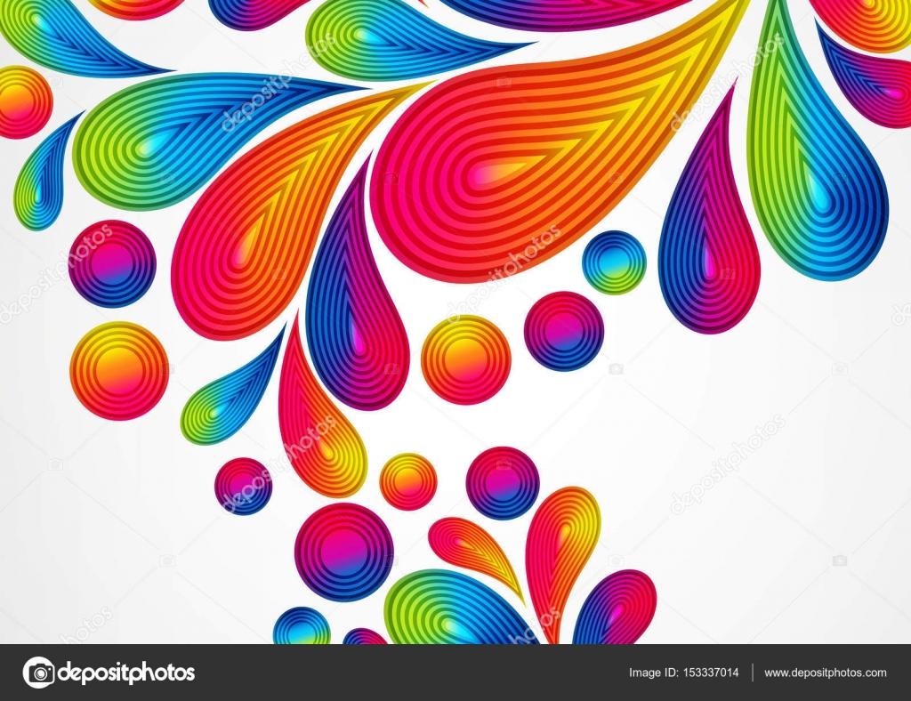 スプラッシュカラー デザイングラフィック イラスト ストライプ