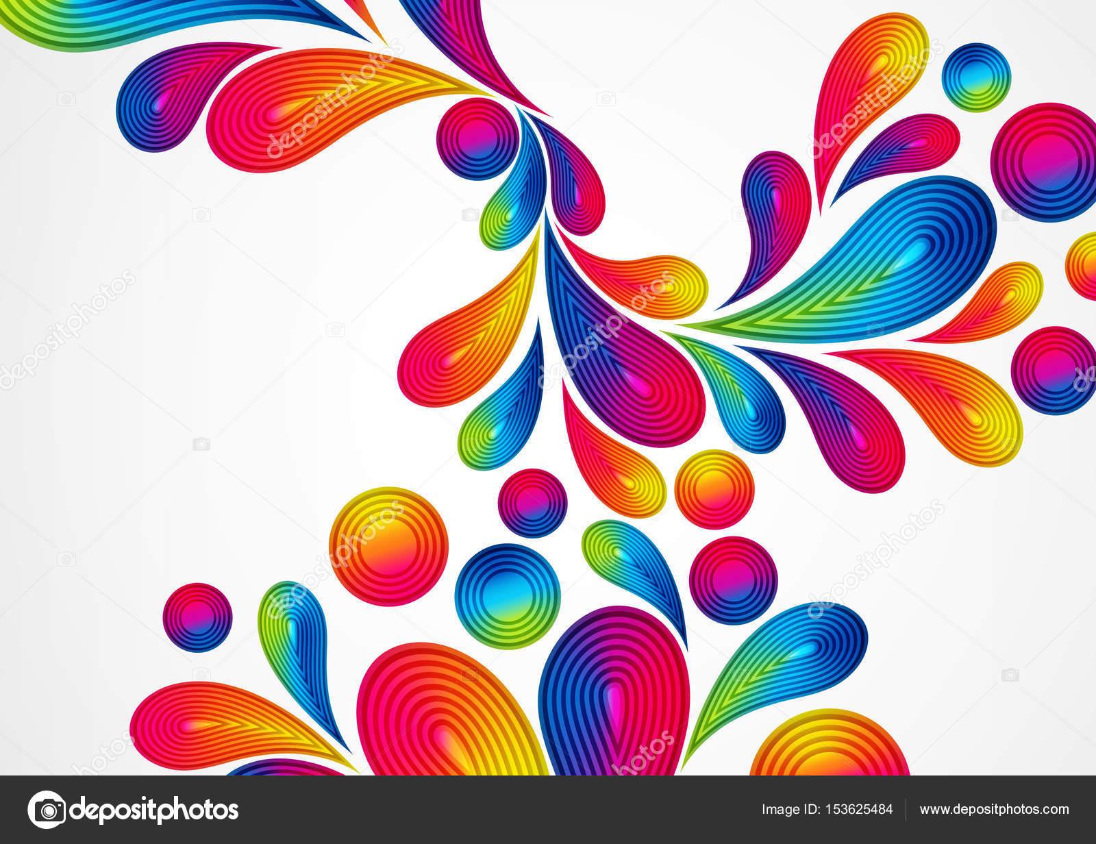 Astratto Sfondo Pallavolo Disegno Vettoriale: Sfondo Colorato Astratto Con Strisce Gocce Splash, Color