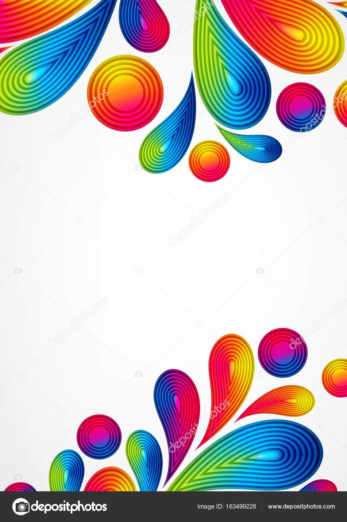 colores de fondo abstracto con rayas gotas salpicaduras diseño de