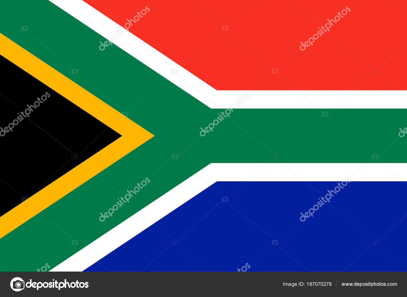 Flag Of South Africa Symbol Of Independence Day Souvenir Sport