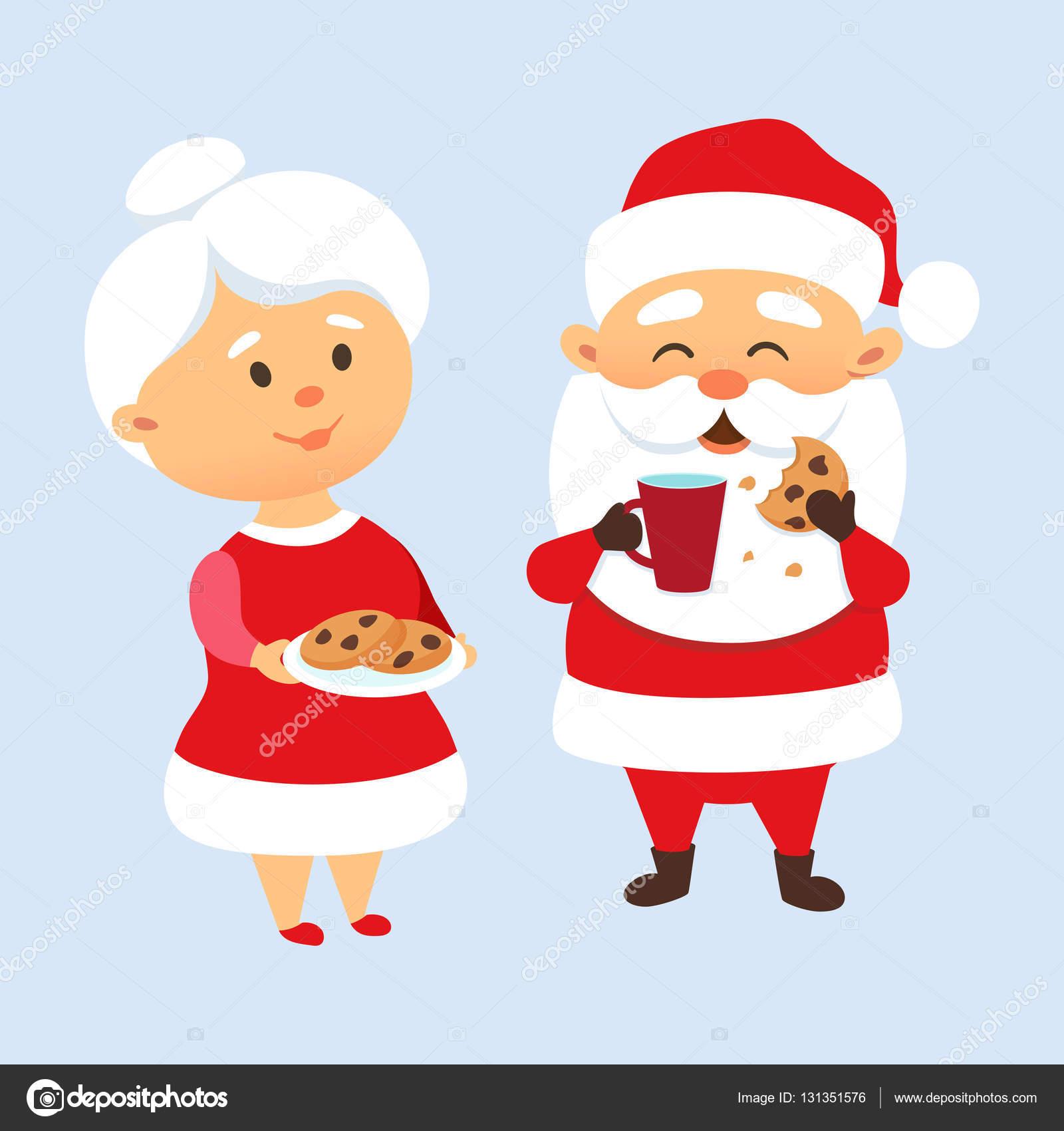 Santa Eating Cookies Stock Vector C Nordfox 131351576