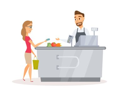 Cashier and buyer