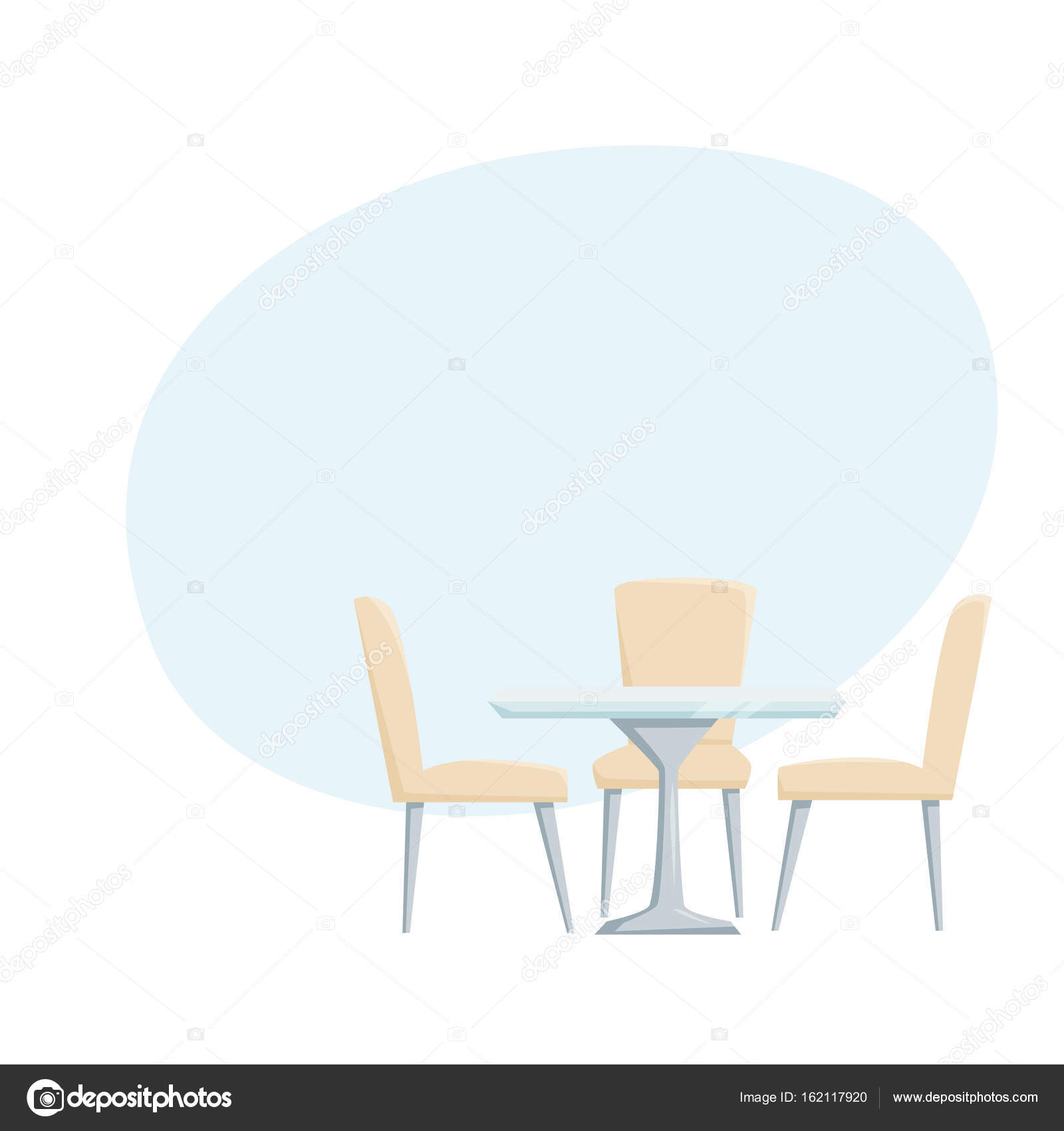 Modern Table And Chairs Stock Vector C Nordfox 162117920