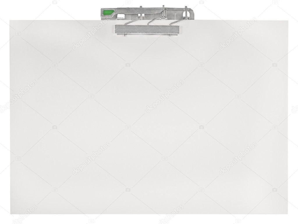 Portapapeles del horizontal en blanco vacío aislado fondo de textura ...