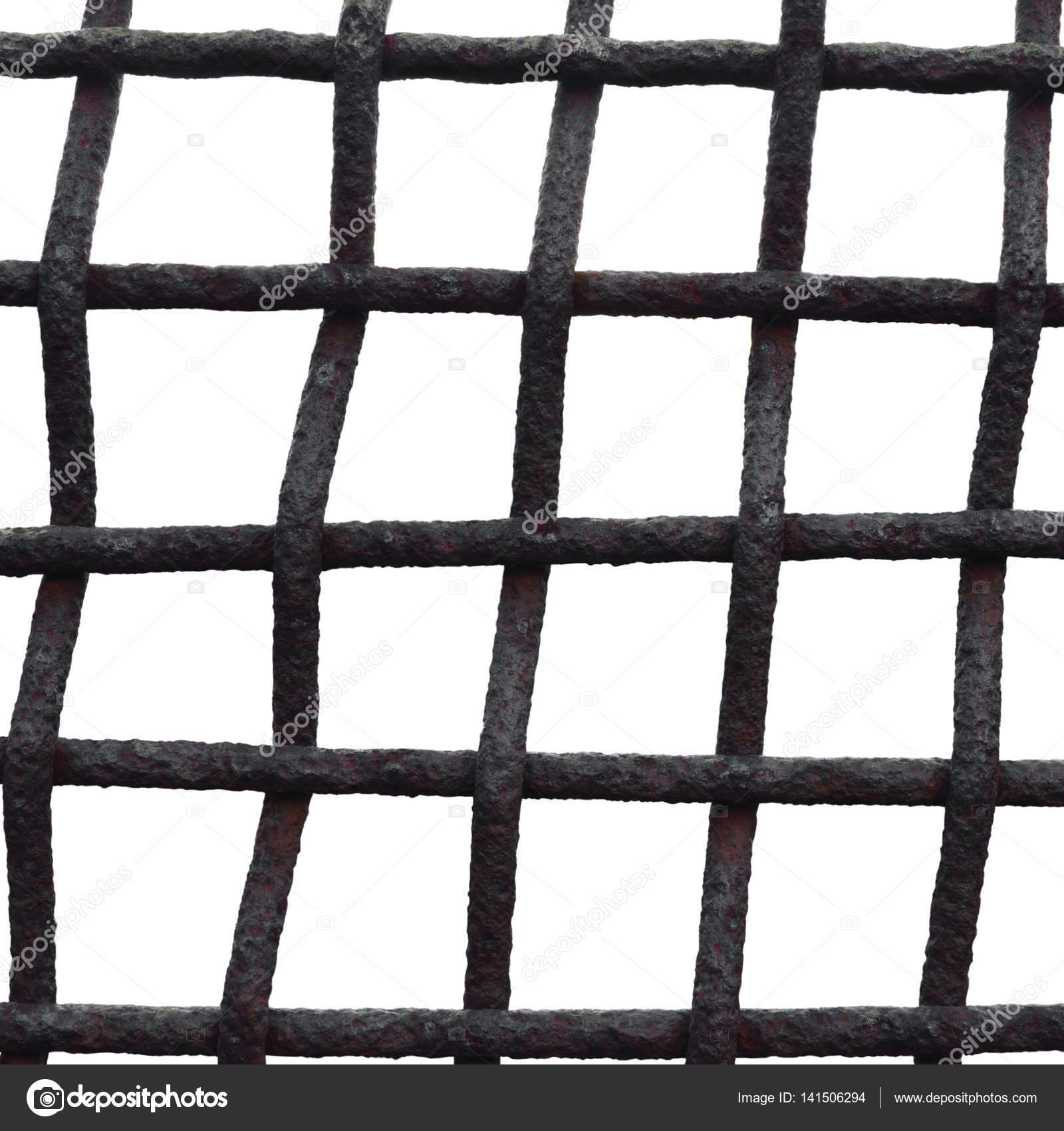 alten Alter verwitterte rostige Gitter Käfig Zaun Eisen Rost