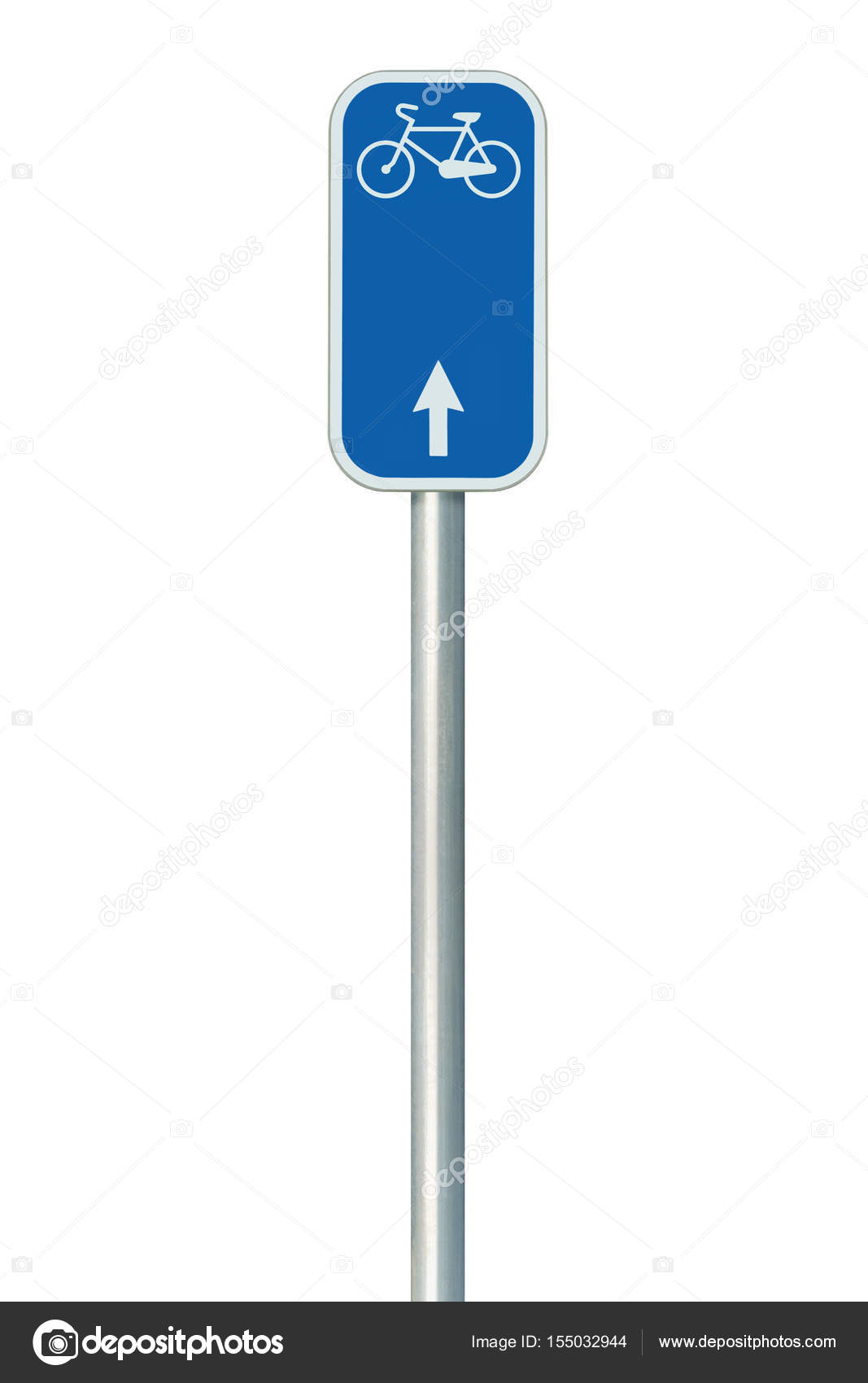 bicycle route number road sign large detailed isolated vertical