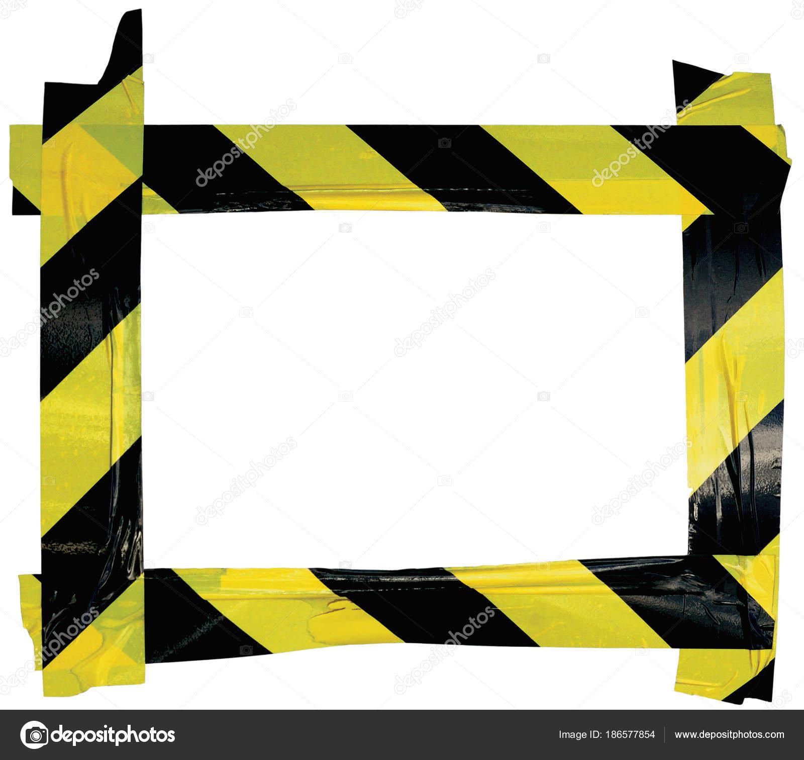 Amarillo negro PRECAUCIÓN ADVERTENCIA cinta aviso marco de la ...