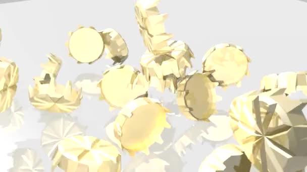 padající zlaté korek
