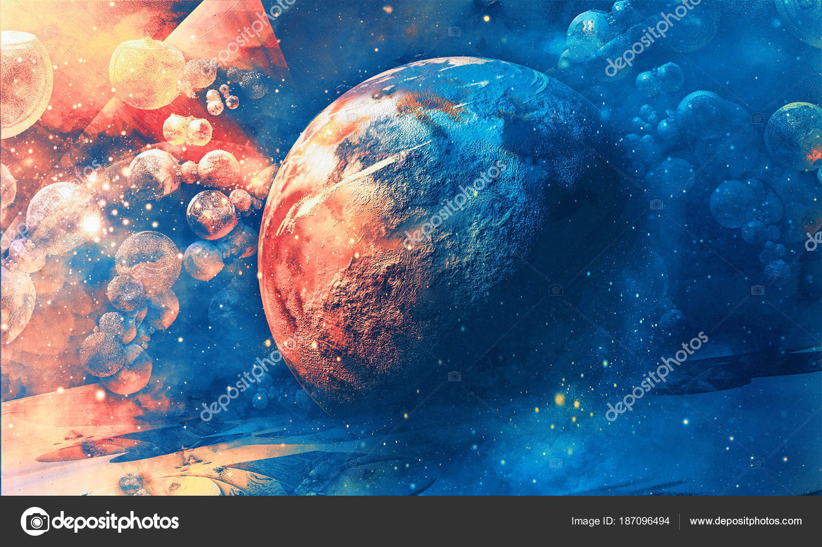 Planeta Espacio Fondo Universo