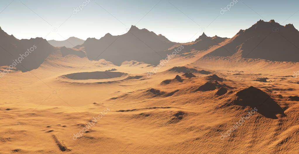 Sonnenuntergang Mars