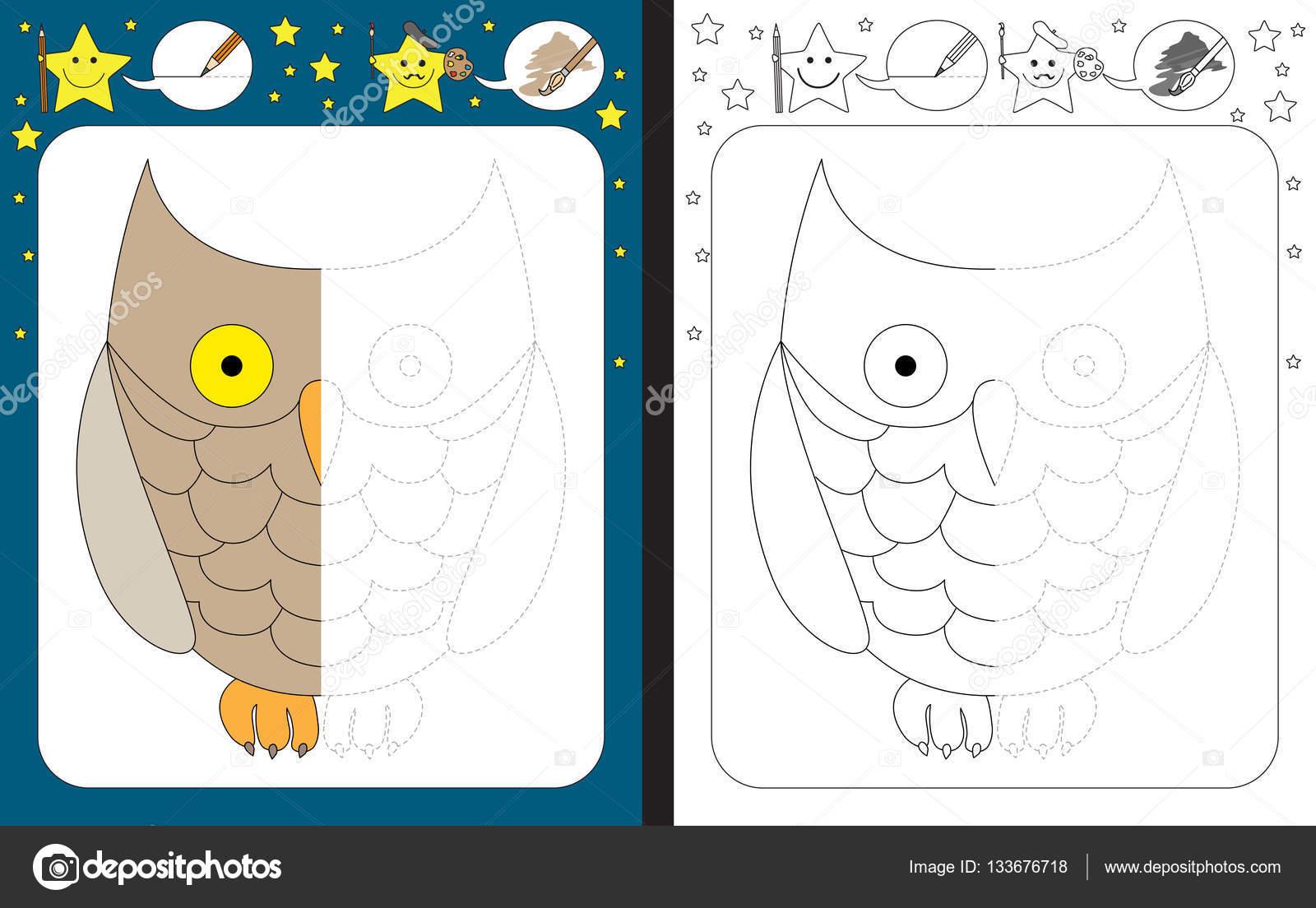Vorschul-Arbeitsblatt für Kinder — Stockvektor © nahhan #133676718