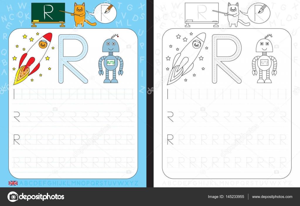 Alphabet-Tracing-Arbeitsblatt — Stockvektor © nahhan #145233955
